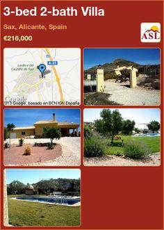 3-bed 2-bath Villa in Sax, Alicante, Spain ►€216,000 #PropertyForSaleInSpain