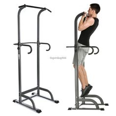 """81"""" Power Tower Push Pull Up Chin Dip Bar Exercise Gym Workout Fitness SHIP FREE"""