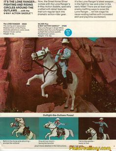 1977 catalog for Gabriel Lone Ranger toys and action figures 70s Toys, Retro Toys, Vintage Toys, Childhood Toys, Childhood Memories, Nostalgia 70s, What Dreams May Come, Western Comics, War Comics