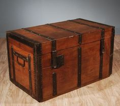 Perfect Old Wooden Trunk