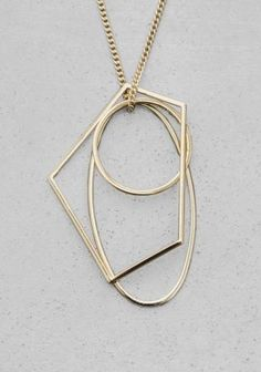 & Other Stories | Geometric Metal Necklace | Gold
