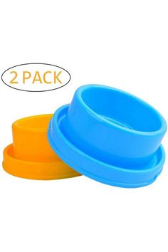 (This is an affiliate pin) Dog Food Bowls Pet Water Bowls Cat Feeding Bowl Puppy Food Dish Every pet owner should provide a bowl for pets to eat food or drink water. The Cdipesp bowl is your best choice.  Material:Plastic Bowl capacity: 2 cups (16 ounces ) Outside Size: 7 x 7 x 2.7 inches Inside Size: 4.7 x 4.7 x 2 inches Style:Ant Proof Dog Bowl Package Included: 2 x dog bowls (blue and yellow)