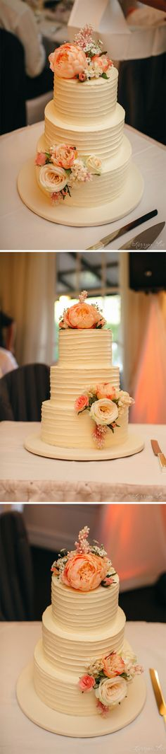 Bianca And Chris Wedding Cake Featuring A Sugar Flower Dome Delicate Hand Piping Ruffle Base