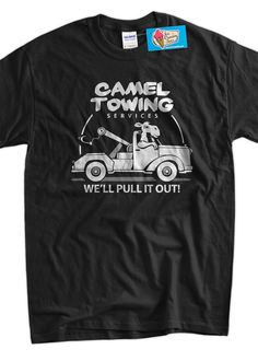 Funny Camel TShirt Gifts For Guys Camel Towing by IceCreamTees, $14.99