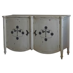 Chelsea Two Door Sideboard. Customize items with any of our wide range of finishes, colors, and hand painted artwork. Any item can be painted in over million ways enabling items to be truly unique. The possibility are nearly endless and include stained, distressed, textured, antiqued, weathered and metallic finishes. In addition, artwork is available on most items. Items can be customized with any of our hand painted designs.#StevenShell