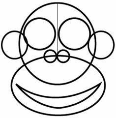 how to draw a cute cartoon monkey step by step