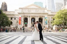Brides: A Glamorous Wedding at the New York Public Library #BridesRealWeddings