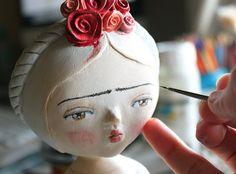 Frida ooak doll One of a kind art sculpture por sweetbestiary