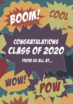 New Leavers' Card - Comic Book School Leavers, Class Of 2020, Card Designs, Congratulations, Comic Books, Student, Comics, Cards, Free