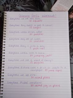 Gilmore Girls workout.  Definitely one way to make watching re-runs more active.