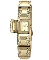 Vince Camuto Watch, Women's Crystal-Accent Gold-Tone Pyramid Cover Link Bracelet 17mm VC-5126CHGB