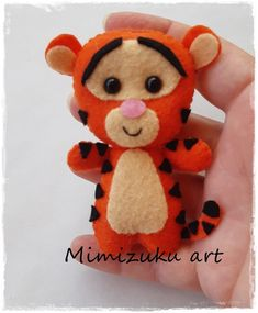 Winnie the pooh mobile felt crib mobile babyroomdecor filz image 5 Felt Animal Patterns, Felt Crafts Patterns, Stuffed Animal Patterns, Fabric Crafts, Winnie The Pooh, Felt Fabric, Fabric Dolls, Disney Tree Topper, Felt Christmas Ornaments