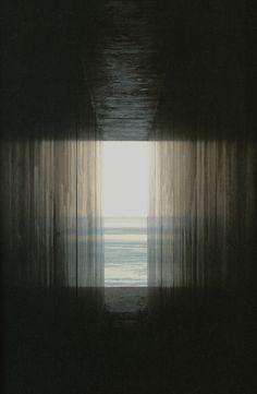 Passage to the sea throughHiroshi Sugimoto's Go-Oh Shrine