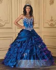 Cheap Brilliant A-Line Sweetheart Floor-Length Empire Waistline Ball Gown Quinceanera Dresses