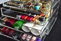 Makeup Storage, Makeup Organization, Storage Ideas, Drawers, Crystals, Model, Shopping, Collection, Organization Ideas