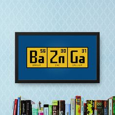 Bazinga Cross Stitch Pattern BBT  Big Bang Theory Quote Cross