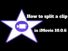 """▶ How to split a Clip in iMovie 10.0.6 2015 