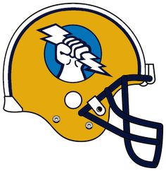 Oakland Invaders helmet (possible San Diego Bolts/Dynamo logo as well) Nfl Football Helmets, Pro Football Teams, Football Cheerleaders, Steelers Football, Football Uniforms, Football Stuff, American Football League, National Football League, Spring Football