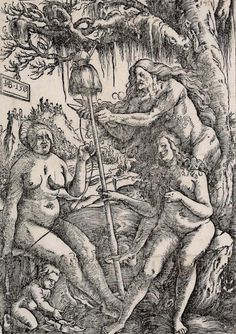The Athenaeum - The Three Fates: Lachesis, Atropos and Clotho (Hans Baldung Grien - )