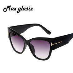 Gradient Points Sun Glasses Tom High Fashion Designer Brands For Women Sunglasses Cateyes oculos feminino de sol – sunglasss.net