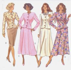 1980s Butterick Sewing Pattern 4367 Womens Button by CloesCloset, $9.00