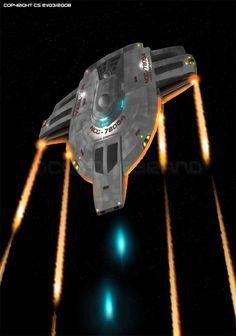 Not a trekkie but love the ship concepts and scenes of classic Star Trek movies. Science Fiction, Deep Space 9, Starfleet Ships, Pintura Exterior, Starship Concept, Sci Fi Ships, Star Trek Starships, Star Wars, Star Trek Universe