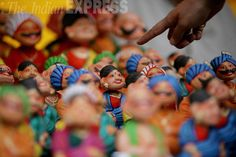 Handmade toys are displayed at a handicraft fair at the Indira Gandhi National Centre for Arts in New Delhi. #photos #India