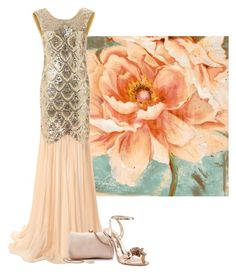 """""""peach kisses"""" by the-vintage-palace2016 ❤ liked on Polyvore featuring LC Lauren Conrad and Sophia Webster"""