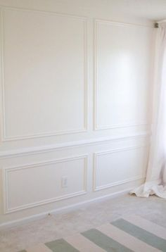 Trendy White Wood Paneling Living Room Wall Treatments 35 Ideas - Home decor interests Ideas Decoracion Salon, White Wood Paneling, Wood Trim, Best Wall Colors, Dining Room Wainscoting, Wainscoting Wall, Dining Room Paneling, Wainscoting Styles, Accent Walls In Living Room