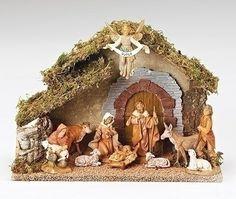 Amazon.de: 10Fontanini 12, 7cm Religiöse Weihnachten Krippe mit italienischem stabil # 54481