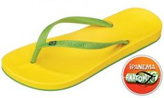 Ipanema Beach Yellow Flip Flop The range of colours is cool and perfect for summer and the thin strap has a small sparkly Brazilian flag on it. Youll want every colour of this versatile classic to match every outfit. A classic http://www.comparestoreprices.co.uk/womens-shoes/ipanema-beach-yellow-flip-flop.asp