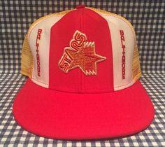 9f56374a976a4c Vintage Baltimore Stars USFL 1980's Mesh Football Trucker Hat Lucky Stripes  AJD