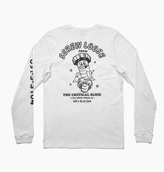 SCREW LOOSE L/S TEE - White