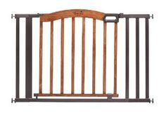 Walk Thru Gate For Stairs Wooden Swing Door Baby Toddler Infant Safety Pet Wide