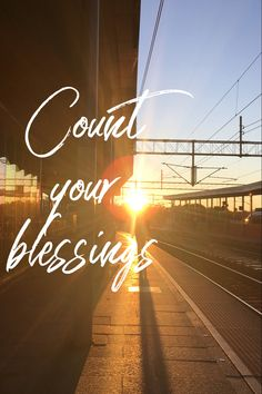 Count your blessings every day! Start your day with giving thanks for everything you have in your life! This is a great way to give your day a positive start!