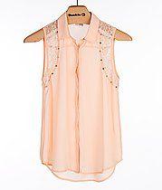 Daytrip Metallic Lace Shirt