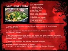 kale and pinto bean soup #recipe www.baltimorefitbodybootcamp.com