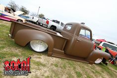 I quite simply fancy this color for this Bagged Trucks, Hot Rod Trucks, Mini Trucks, Cool Trucks, Pickup Trucks, 54 Chevy Truck, Chevy 3100, Custom Rat Rods, Custom Trucks