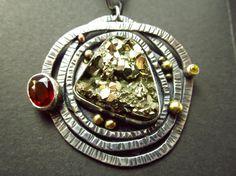 Lässiger Pyrit Mosambik Granat gelber Saphir von ElstarSunbird