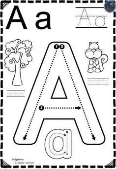 Letter Worksheets For Preschool, Kindergarten Math Worksheets, Homeschool Kindergarten, Alphabet Worksheets, Kindergarten Writing, Alphabet Activities, Kindergarten Graduation, Preschool Spanish, Preschool Learning Activities