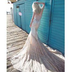 Vestido De Novia Romantic Soft Sheer  2016 New Arrival Custom Made Lace Appliques Mermaid Wedding Dresses Robe De Mariage #mariage