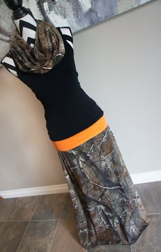 Realtree Camo AP Women's Long Maxi Skirt *Optional* Matching Infinity Scarf & Headband PLUS SIZE Maternity Camouflage Hunting Deer Elk Duck by PinkPearBoutique on Etsy https://www.etsy.com/listing/195179676/realtree-camo-ap-womens-long-maxi-skirt