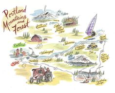 Portland Driving Map