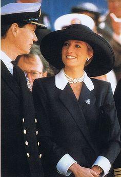 Princess Diana with Sir Timothy Laurence, Princess Anne's husband