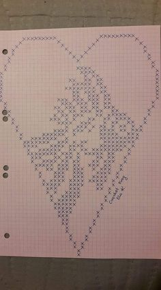 Filet Crochet, Crochet Fish, Thread Crochet, Crochet Doilies, Cross Stitch Heart, Cross Stitch Animals, Cross Stitch Embroidery, Cross Stitch Patterns, Crochet Patterns