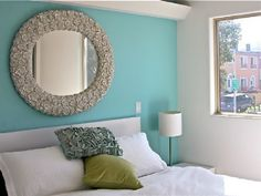 light blue feature wall - Google Search