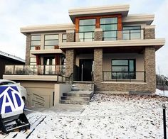 Cutting Edge Contemporary House Plan - 81637AB   Modern, Northwest, Canadian, Luxury, Narrow Lot, Photo Gallery, Premium Collection, 2nd Floor Master Suite, Butler Walk-in Pantry, CAD Available, Den-Office-Library-Study, Drive Under Garage, MBR Sitting Area, PDF, Sloping Lot   Architectural Designs