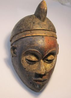 Very Old Kongo Duality mask, African Tribal Art ~ Blue & Red Face ~ Collector pc | eBay