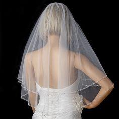 Bridal Wedding Double Layer Elbow Edge Veil 119 E
