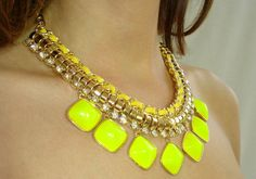 Neon statement necklace at www.meunique.gr